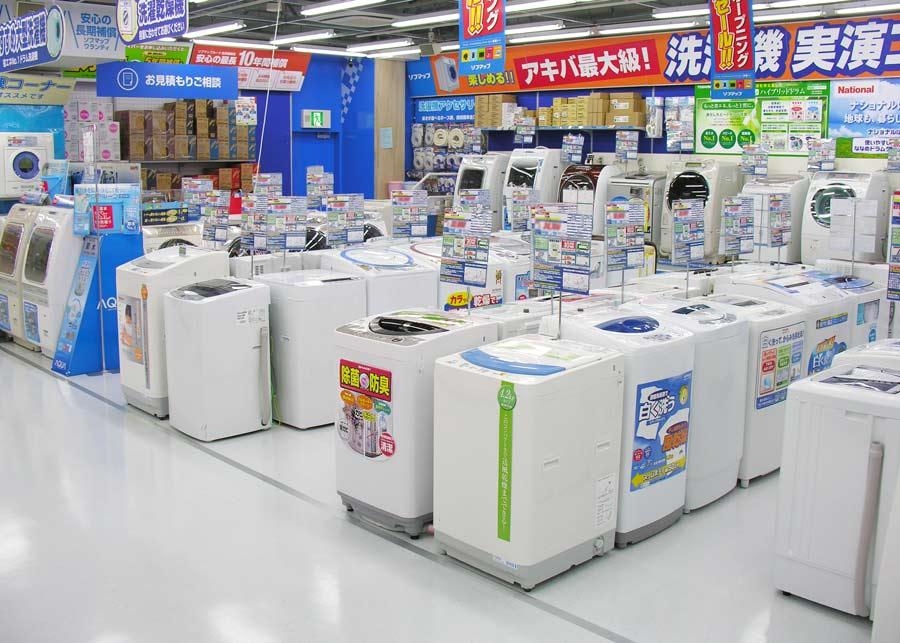 オープン当初は洗濯機も展示していた総合家電店だった