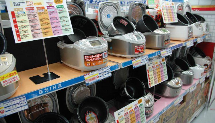 こちらはジャー炊飯器の展示。IH比較のPOPも置かれ、しっかりと訴求をしている