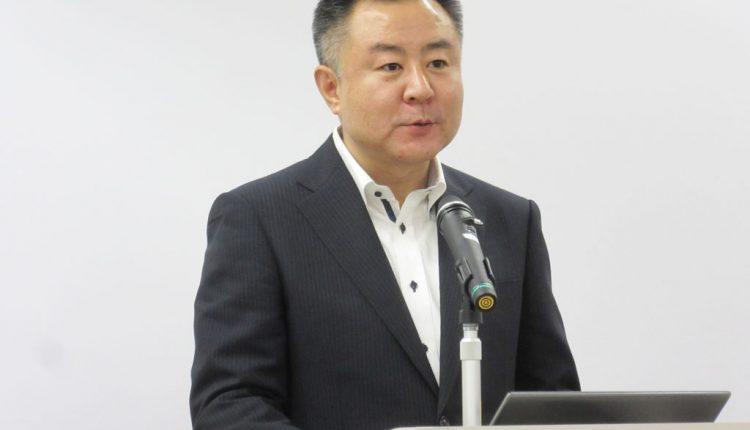 新4K8K衛星放送やネット動画に対するニーズは拡大すると話す同社の鈴木正幸部長補佐
