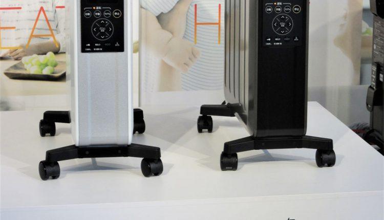 1,200WタイプでホワイトシルバーのDHS-1219(左)と1,500WタイプのDHS-1519(右)はグレイスブラック