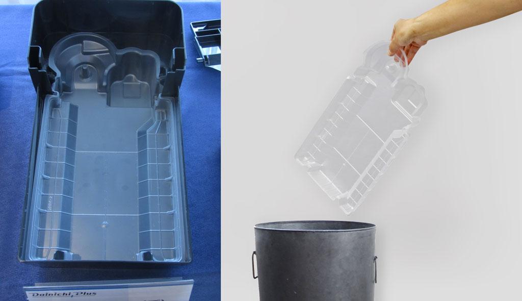 業界初となる樹脂製の交換式トレイカバーにより、トレイの手入れが非常に楽になる