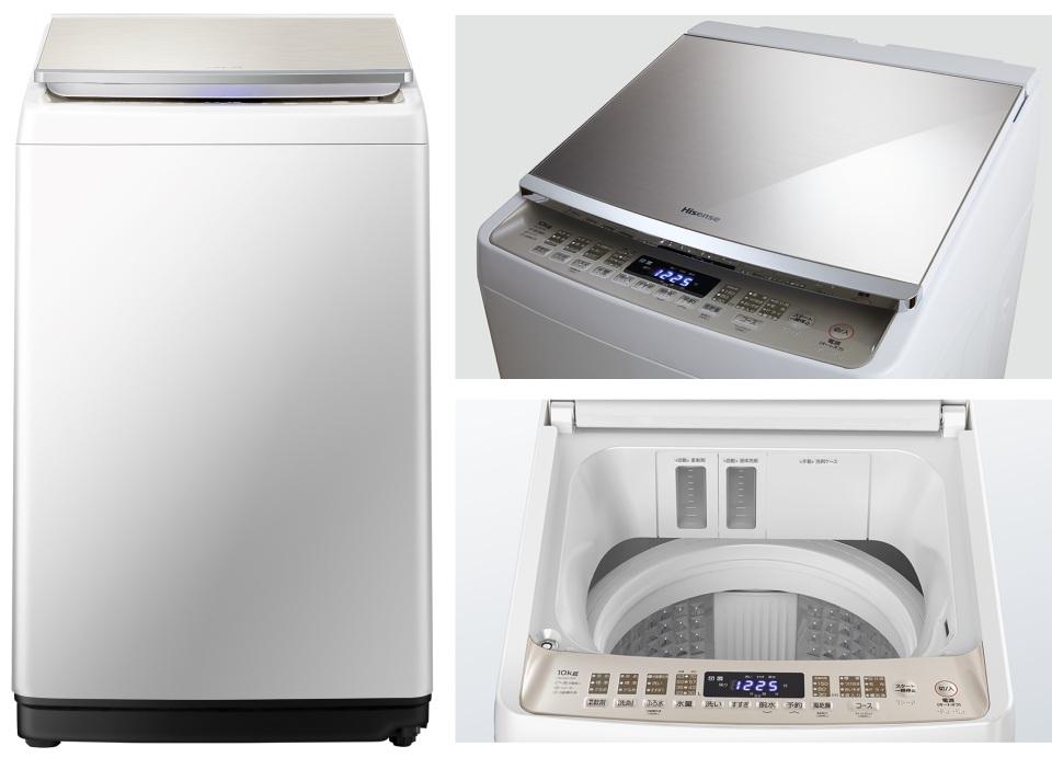 ハイセンス,洗濯機,DG10A,ガラス,操作パネル