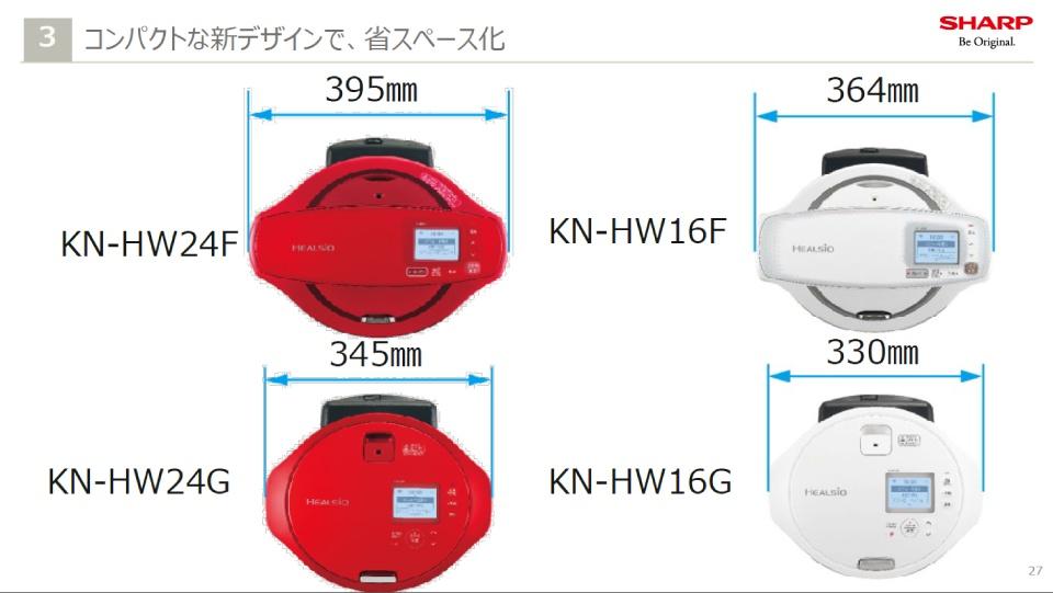 ホットクック,HW24G,HW16G,デザイン,コンパクト,サイズ